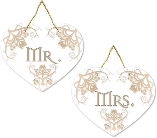 Mr & Mrs Sandalye ve Araba Süsleri