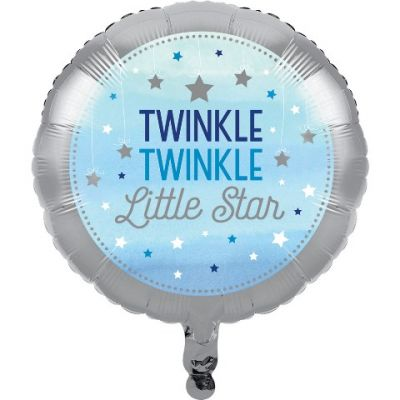 One Little Star Mavi Folyo Balon