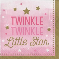 - One Little Star Pembe 16 lı Peçete