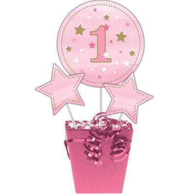 - One Little Star Pembe Dekor Çubukları 3 Adet