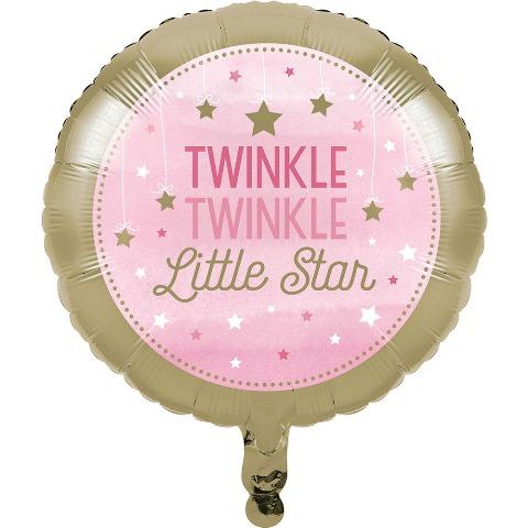 One Little Star PembeFolyo Balon