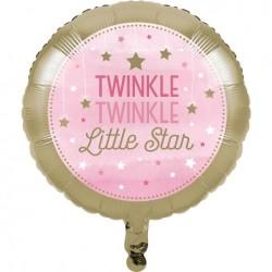 - One Little Star PembeFolyo Balon