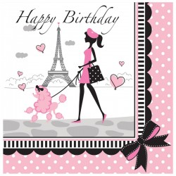 Converting - Paris Partisi Happy Birthday 16 lı Peçete