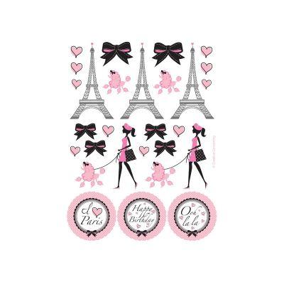 - Paris Partisi Sticker 4 Adet