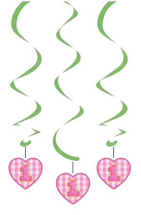 Pembe Kalpli 1 Yaş Süs Dalgası 3 Adet