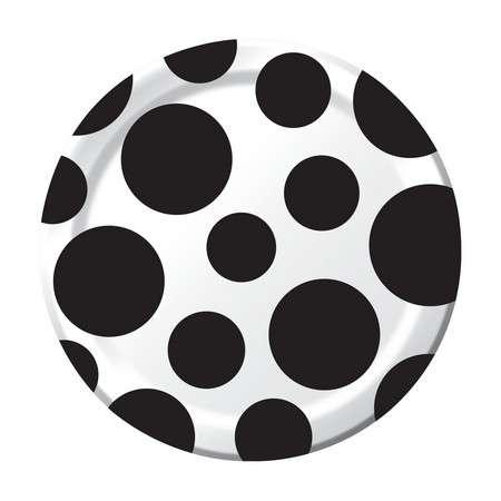 Puanlı Küçük 8 li Siyah Tabak ( 17 cm)