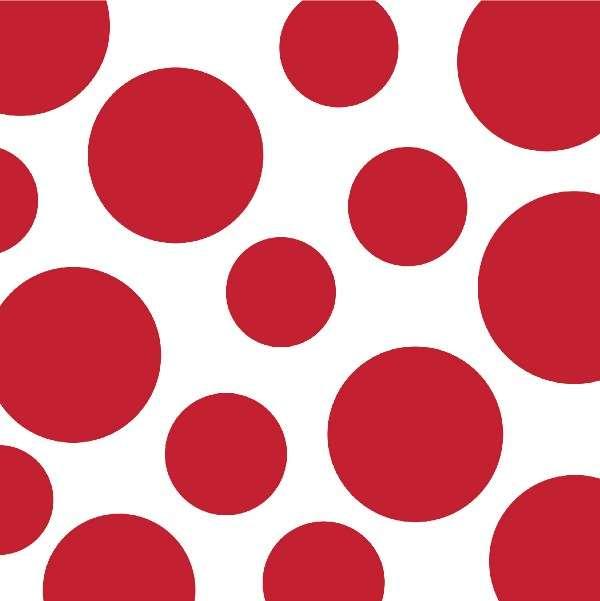 Puanlı ve Çizgili Kırmızı Küçük 16 lı Peçete