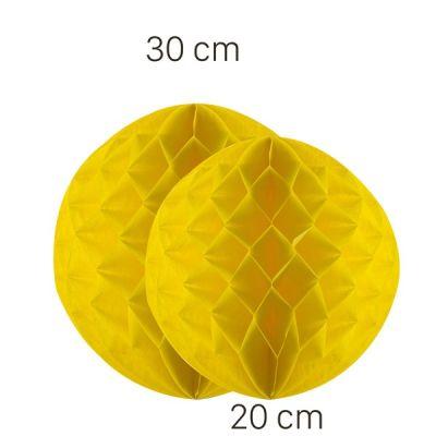 - Sarı Renk Petek Süs Seti 2 Adet 30-20 cm