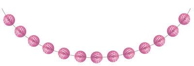 - Şeker Pembesi Mini Toplar Garlent 275 cm
