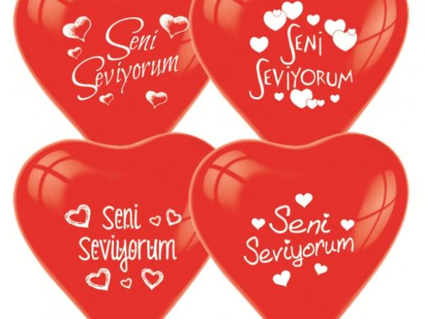 Seni Seviyorum 10 Lu Balon