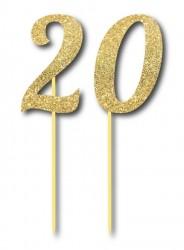 Parti Dünyası - Simli Altın Renk 20 Yaş
