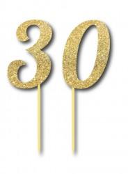 Parti Dünyası - Simli Altın Renk 30 Yaş