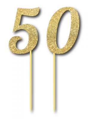 Parti Dünyası - Simli Altın Renk 50 Yaş