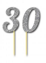 Parti Dünyası - Simli Gümüş Renk 30 Yaş