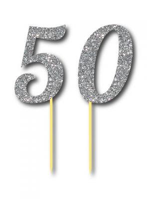 Parti Dünyası - Simli Gümüş Renk 50 Yaş