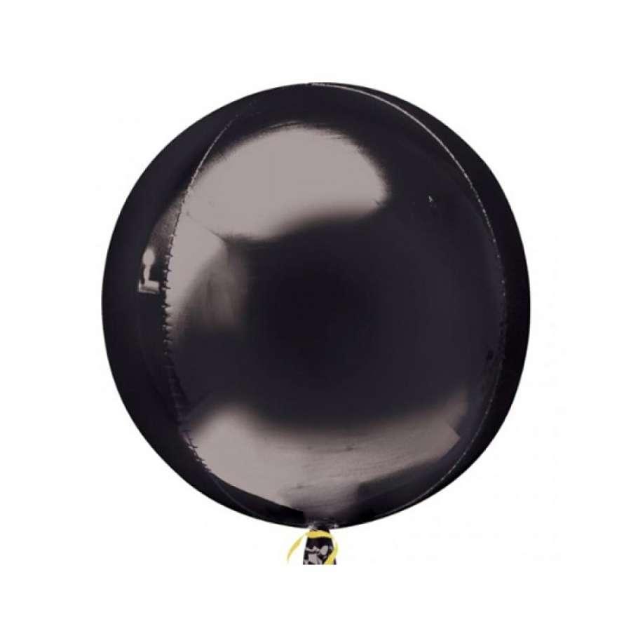 Siyah Renk Küre Şeklinde Jumbo Boy Folyo Balon