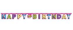 - Superhero Girl Happy Birthday Harf Afiş