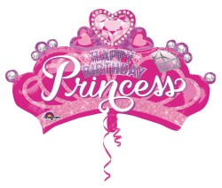 - Taç Happy Birthday Princess Jumbo Folyo Balon