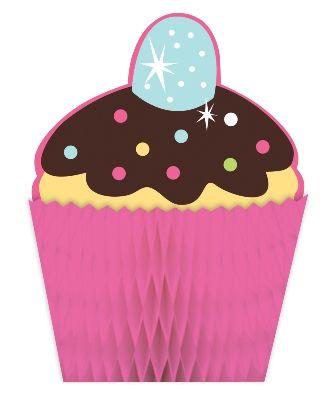- Tatlı Cupcake Masa Orta Süsü