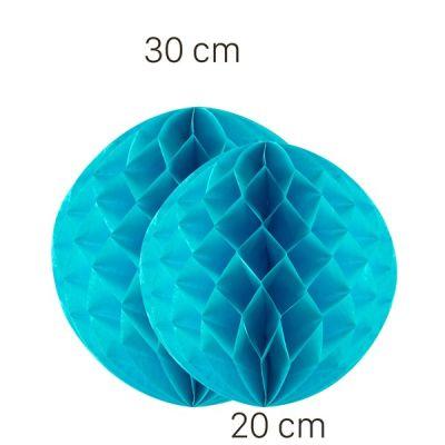 - Turkuaz Renk Petek Süs Seti 2 Adet 30-20 cm