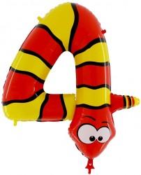 - Yılan 4 Yaş Jumbo Folyo Balon