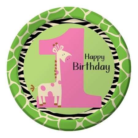 Zürafalı 1 Yaş Kız 8 li Tabak