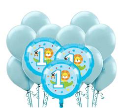 Parti Dünyası - 1 Olmak Eğlenceli Balon Demeti 23 Adet