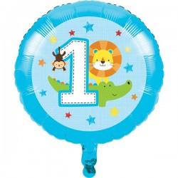 Parti Dünyası - 1 Olmak Eğlenceli Folyo Balon