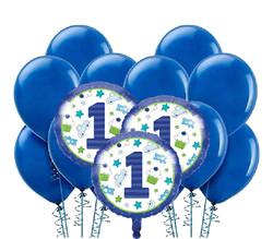 Parti Dünyası - 1 Yaş Mavi Balon Demeti 23 Adet