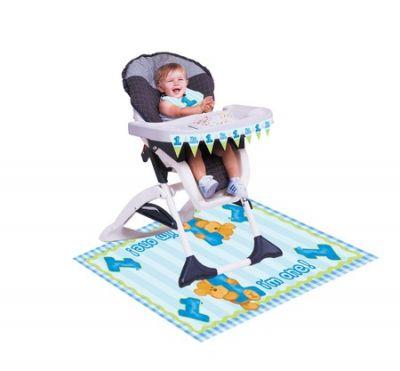 Converting - 1 Yaşındayım Mavi Ayıcık Mama Sandalyesi Kiti