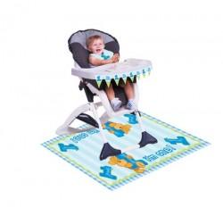 Parti Dünyası - 1 Yaşındayım Mavi Ayıcık Mama Sandalyesi Kiti