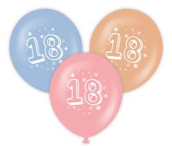Parti Dünyası - 18 Yaş Baskılı Latex Balon 10 Adet
