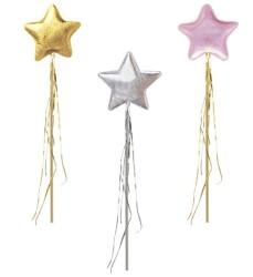 Parti Dünyası - 3 Boyutlu Sihirli ASA Altın,Gümüş veya Pembe Renk