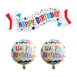 Parti Dünyası - 3 lü Happy Birthday Folyo Balon