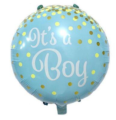 3 lü Mavi Fiyonklu Erkek Bebek Folyo Balon