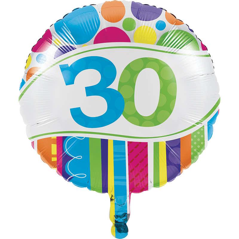 30 Yaş Folyo Balon