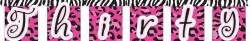 Parti Dünyası - 30 Yaş Pembe-Fuşya Harf Afiş (thirty)