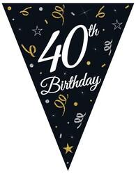 Parti Dünyası - 40 Yaş Bayrak Afiş 3,20 metre