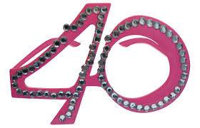 40 Yaş Pembe Renk Parti Gözlüğü