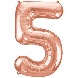 Parti - 5 Rakamı Rose Gold Folyo Balon 100 cm