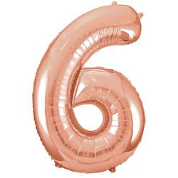 Parti - 6 Rakamı Rose Gold Folyo Balon 100 cm