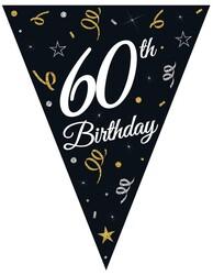 Parti Dünyası - 60 Yaş Bayrak Afiş 3,20 metre