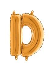 Parti - 80 cm Folyo Balon Altın Renk D Harfi