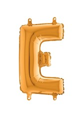 Parti Dünyası - 80 cm Folyo Balon Altın Renk E Harfi