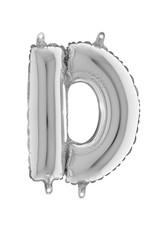 Parti - 80 cm Folyo Balon Gümüş Renk D Harfi