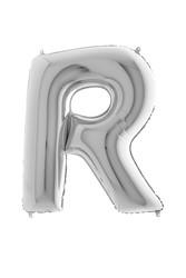 Parti Dünyası - 80 cm Folyo Balon Gümüş Renk R Harfi