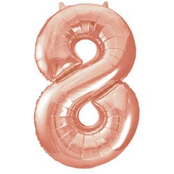 Parti - 8 Rakamı Rose Gold Folyo Balon 100 cm