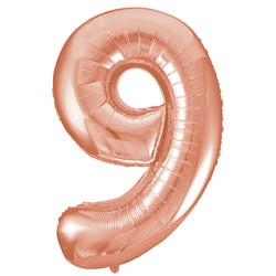 Parti - 9 Rakamı Rose Gold Folyo Balon 100 cm