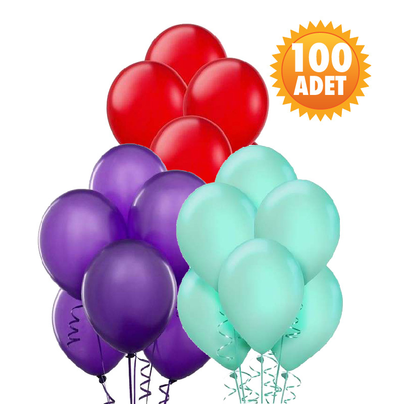 Latex Balon 100 Adet