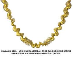 Parti Dünyası - Altın Metalize Uzarlı Süs